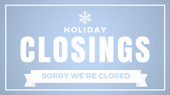 Book Store Closings for the Holidays