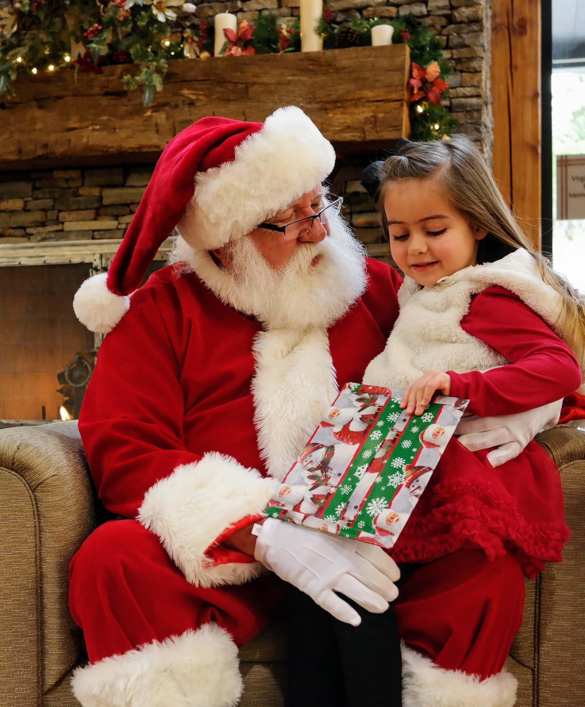 Santa gifts children a book of their own